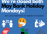 Closed both bank holiday image